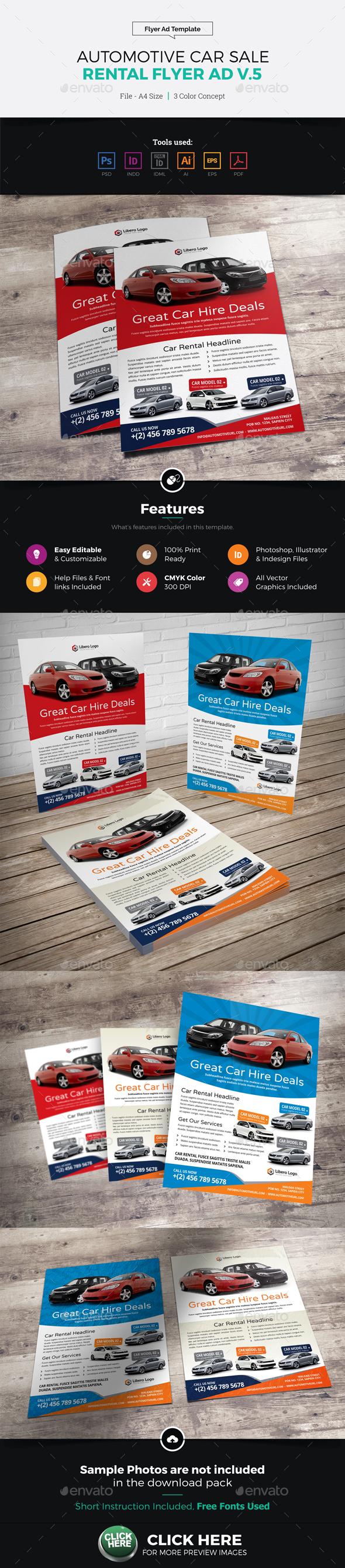 Automotive Car Sale Rental Flyer Ad v5 - Corporate Flyers