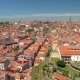 Portugal Porto Aerial Video City Centre Old Buildings Bridges Architecture Rooftop - VideoHive Item for Sale