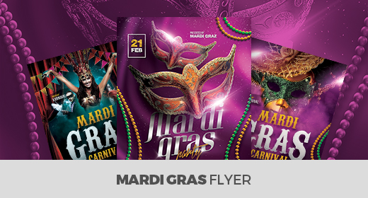 Mardi Gras Flyer Templates