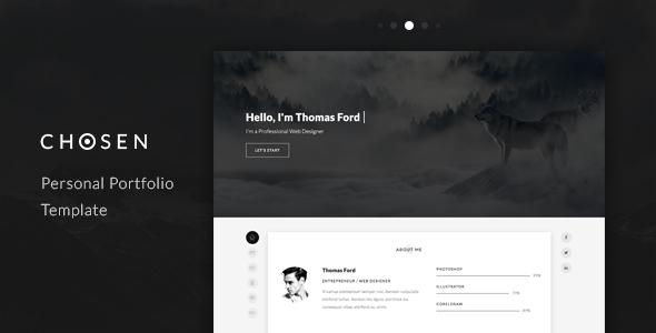 Chosen - Personal Portfolio Template