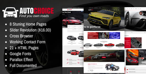Autochoice - Responsive Premium Car & Dealer HTML Template