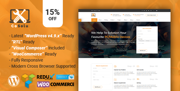 ThemeForest CoSolu Multipurpose Servicing and Repairing WordPress Theme 21020600