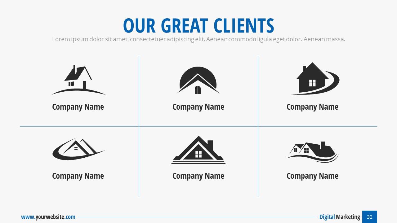digital marketing - business presentationspriteit | graphicriver, Presentation templates