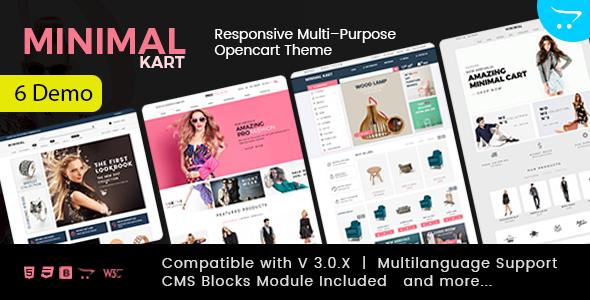 Minimal - Multi-purpose Responsive Opencart 3 Theme