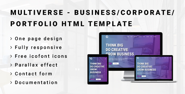 Image of MULTIVERSE - Multipurpose Business/Corporate/Portfolio HTML Template