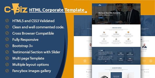 ThemeForest C-Biz Corporate Business Template 21191920