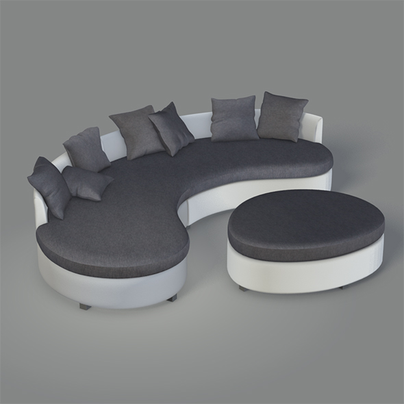 Modern Round Couch - 3DOcean Item for Sale