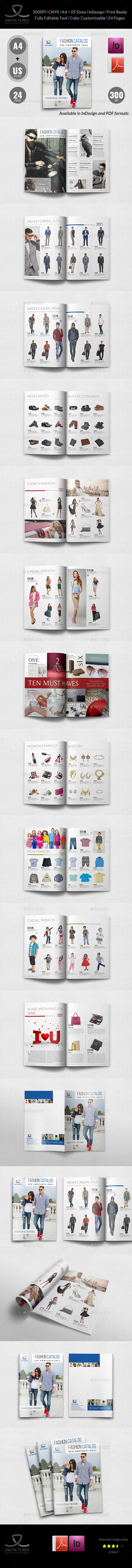 Fashion Catalog Brochure Template - 24 Pages - Catalogs Brochures