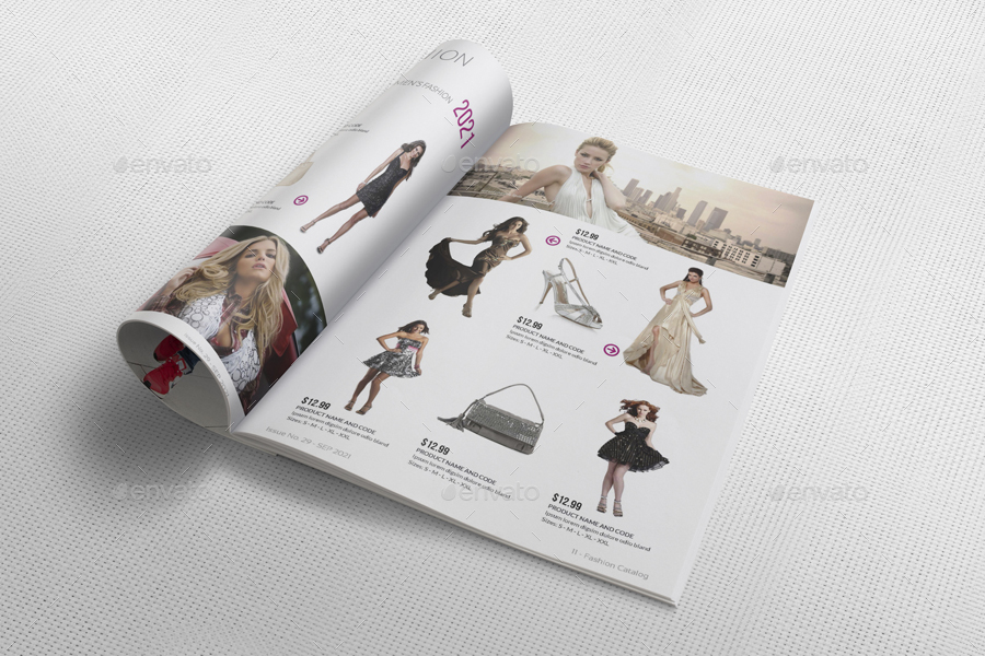 Fashion Catalog Brochure Template Pages By Owpictures - Fashion brochure templates
