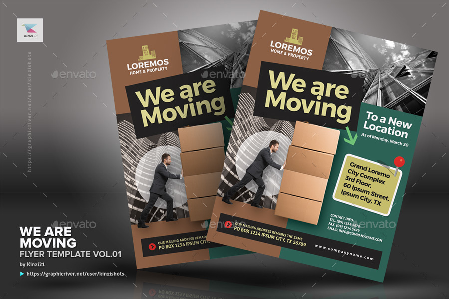 We Are Moving Flyer Vol01 By Kinzishots Graphicriver