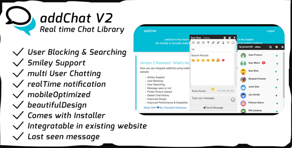 AddChat V2 - Realtime Chat Library - CodeCanyon Item for Sale