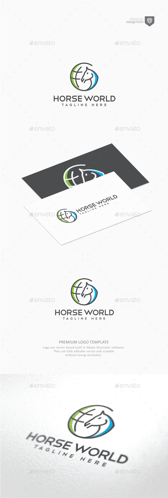 Horse World Logo - Animals Logo Templates