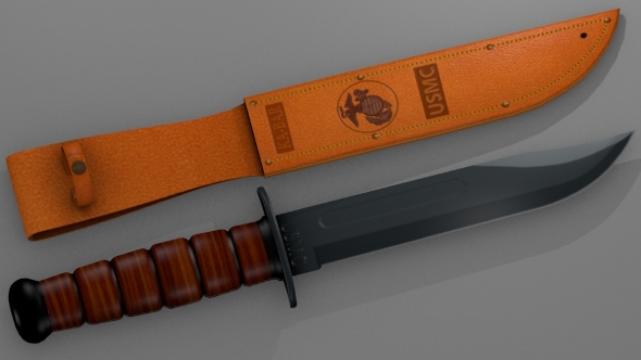 Knife Ka-Bar - 3DOcean Item for Sale