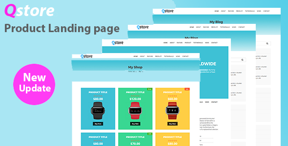 Qstore – Product Landing Page - Retail Site Templates