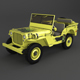 Willys Jeep Low Poly - 3DOcean Item for Sale