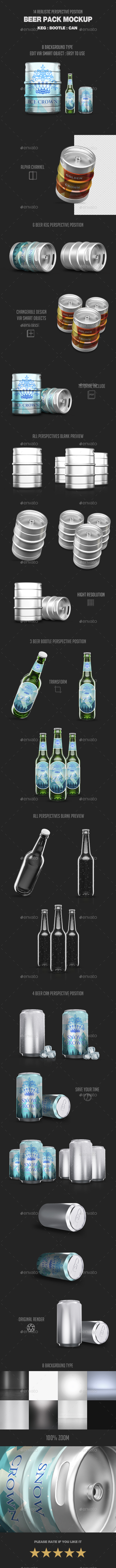Beer Pack Mock-Up - Product Mock-Ups Graphics