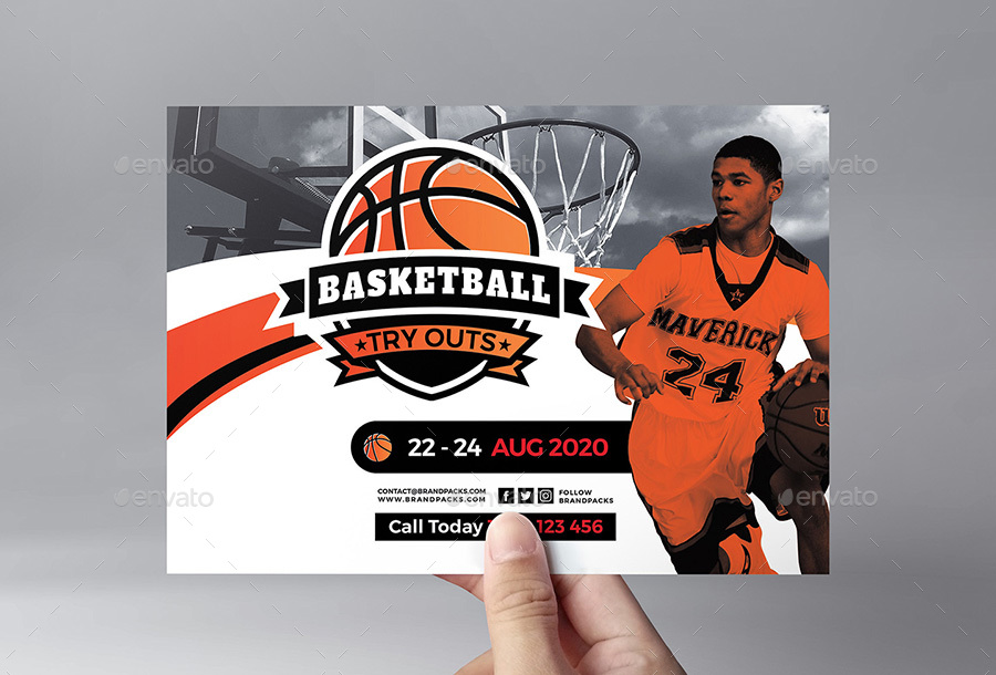 Basketball Flyer Template By Brandpacks Graphicriver
