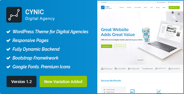 Cynic - Digital Agency WordPress Theme