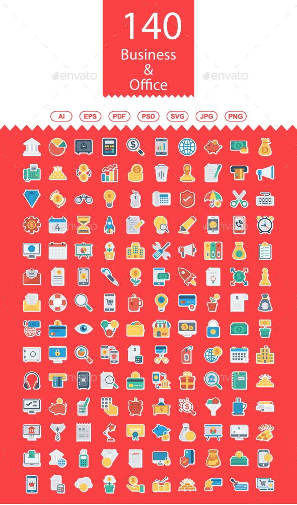130+ Business and Office Paper icons - Business Icons