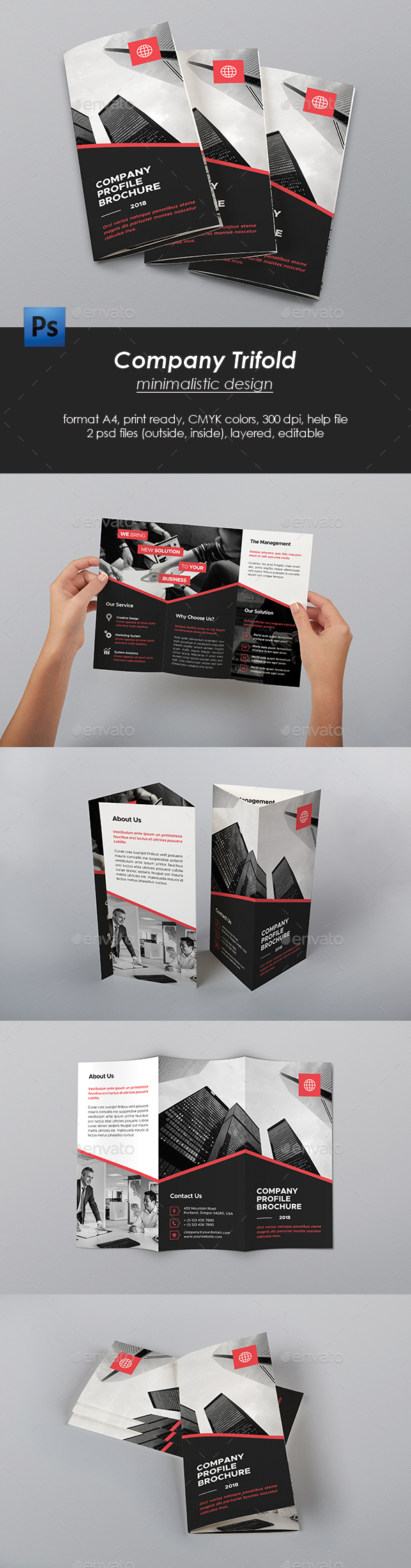 Trifold Company Brochure - Corporate Brochures