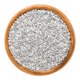 White and silver nonpareils in wooden bowl on white background - PhotoDune Item for Sale