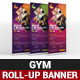 GYM Roll-Up Banner - GraphicRiver Item for Sale