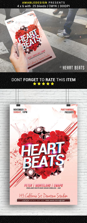 Heart Beats Valentines Flyer - Events Flyers