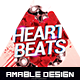 Heart Beats Valentines Flyer - GraphicRiver Item for Sale