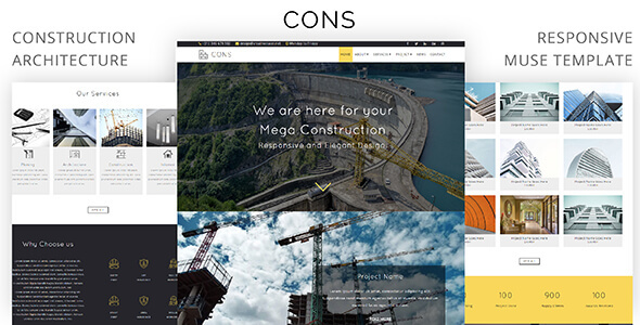 Cons_Construction & Architecture Muse Template