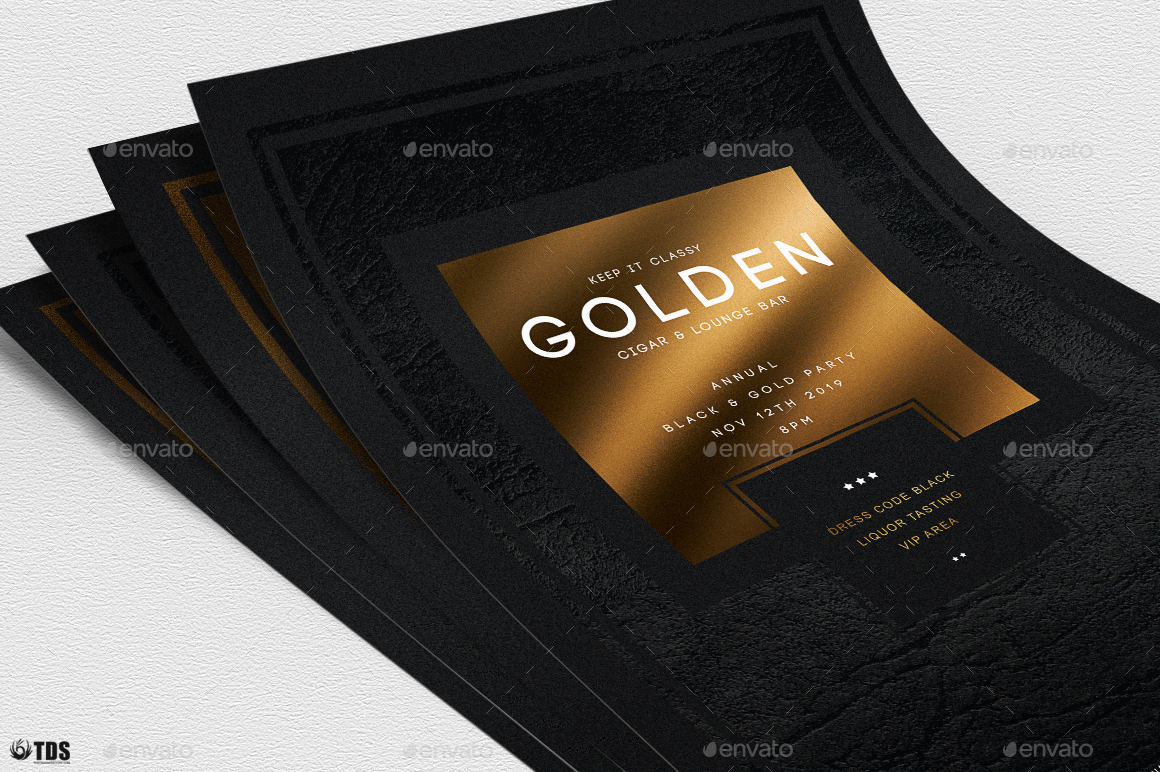 Minimal Black And Gold Flyer Template V1 By Lou606 Graphicriver