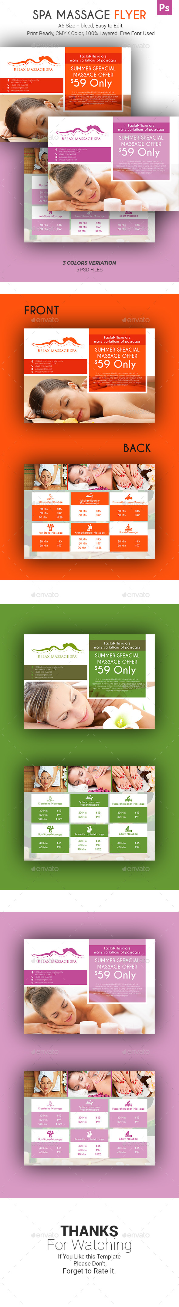 Spa Massage Flyer - Corporate Flyers