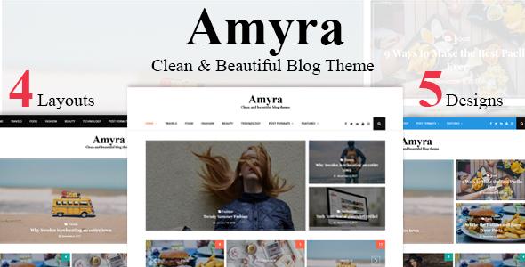 Amyra - WordPress Blog Theme