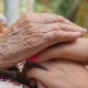 Old Wrinkled and Young Female Hands Comforting and Stroking Each Other Outdoor. Granddaughter and - VideoHive Item for Sale