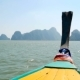 Thai Thaditional Longtail Boat Sails on the Waves - VideoHive Item for Sale