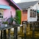 Wooden Houses of Muslim Fishermen Ot Stilts in PhangNga Province, Thailand - VideoHive Item for Sale