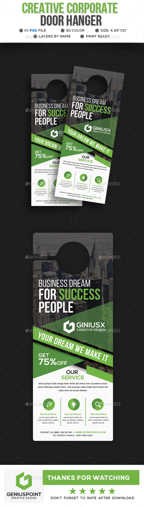 Creative Corporate Door Hanger - Miscellaneous Print Templates