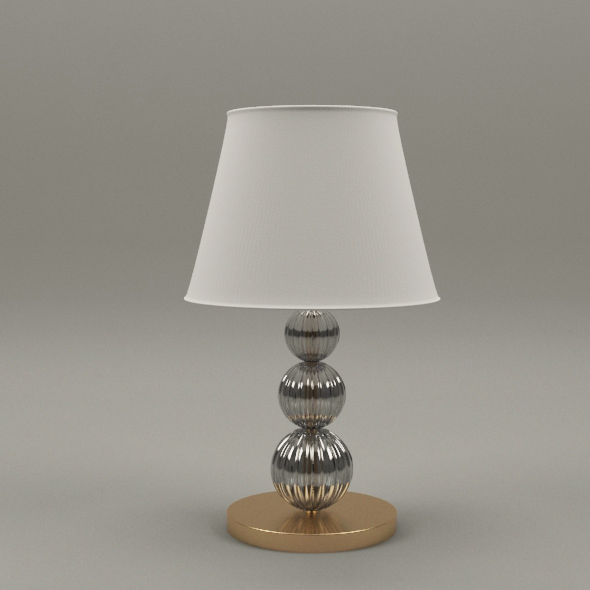 Gold and glass lamp - 3DOcean Item for Sale