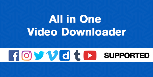 CodeCanyon All in One Video Downloader 21242606
