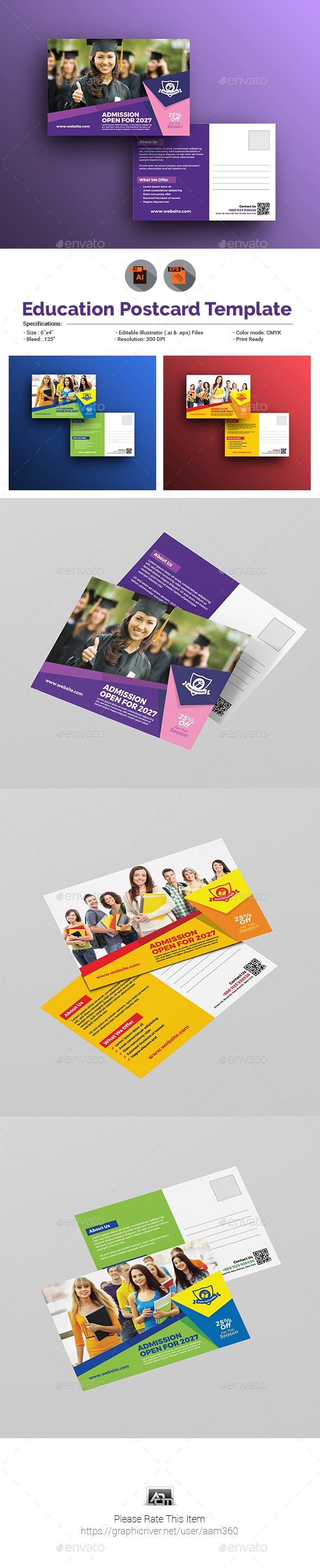 Junior School Postcard Template - Cards & Invites Print Templates
