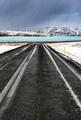 Road along frozen lake - PhotoDune Item for Sale