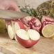 The Cook Cuts an Apple Into Slices - VideoHive Item for Sale