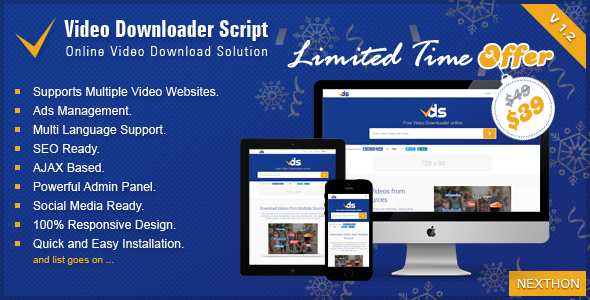 Download Video Downloader Script v1.2 - All In One WordPress Plugin!