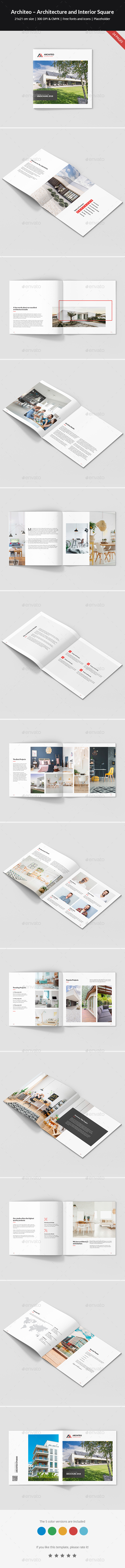 Architeo – Architecture and Interior Brochure Square - Portfolio Brochures