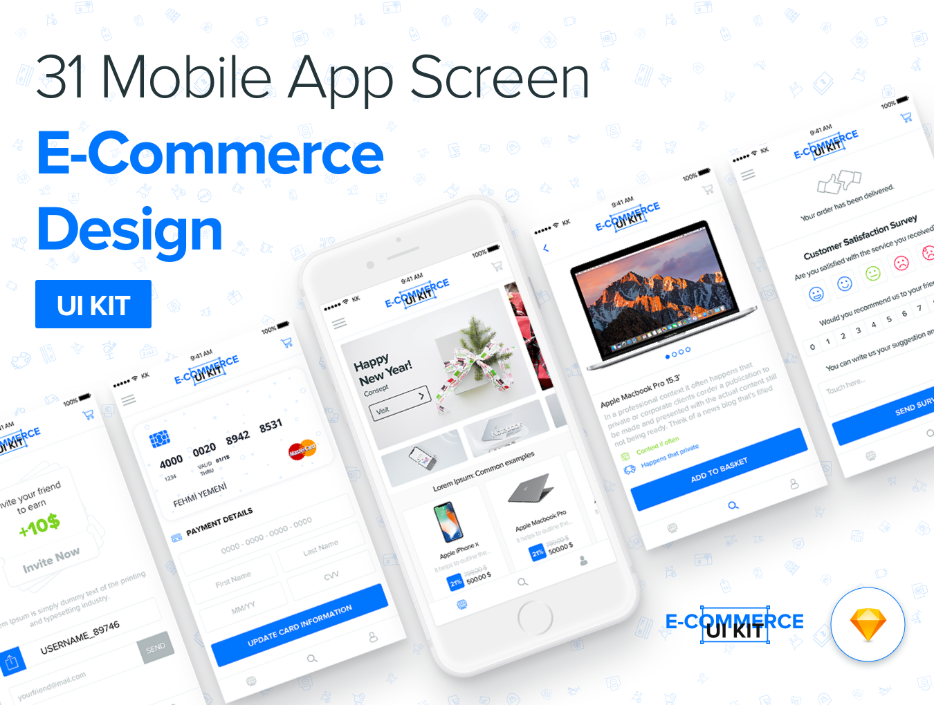 Designui e commerce mobile app ui kit by fehmiyemeni for E commerce mobili
