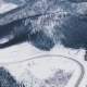 Winter Country Road in Snowy Forest, Aerial View From Drone - VideoHive Item for Sale