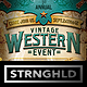 Vintage Western Event Flyer Template