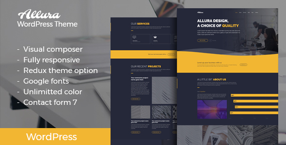 ThemeForest Allura Portfolio WordPress Theme 20940464