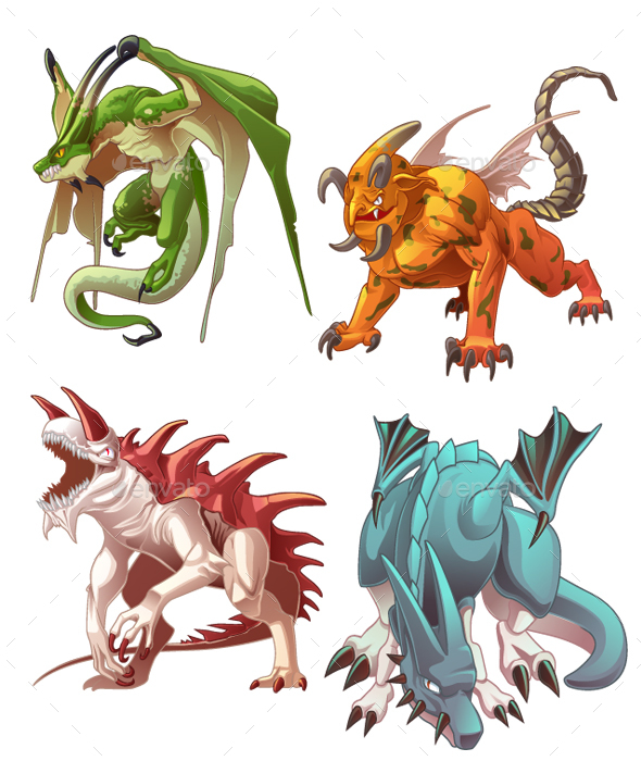 Dragons - Monsters Characters