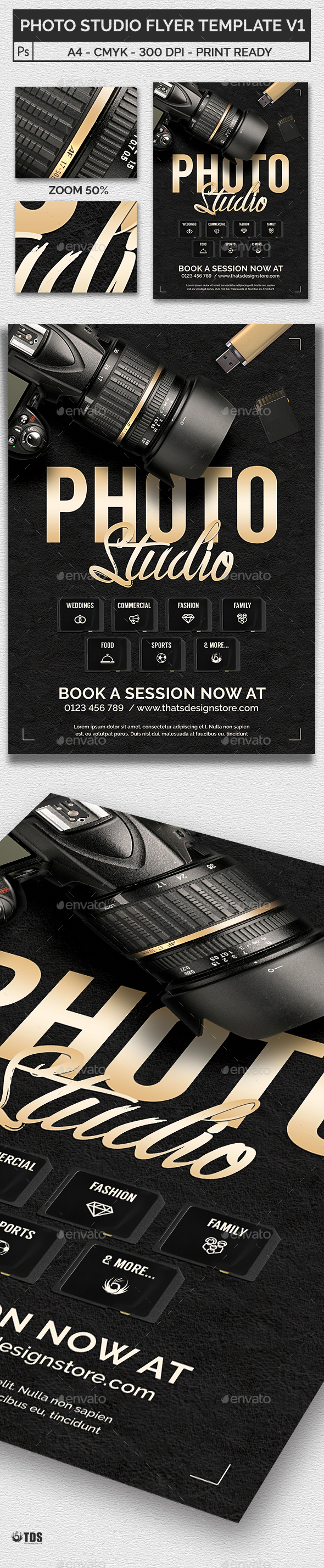 Photo Studio Flyer Template V1 - Corporate Flyers