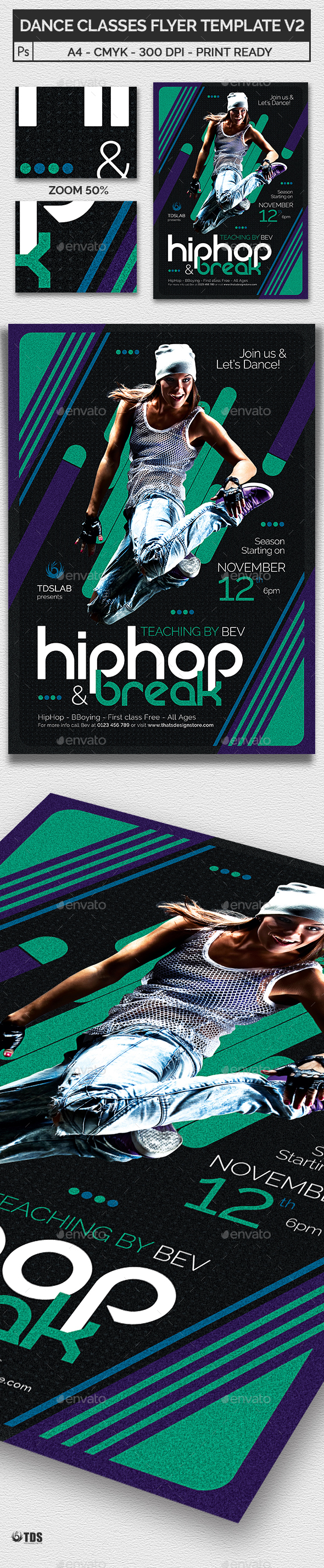 Dance Classes Flyer Template V2 - Sports Events